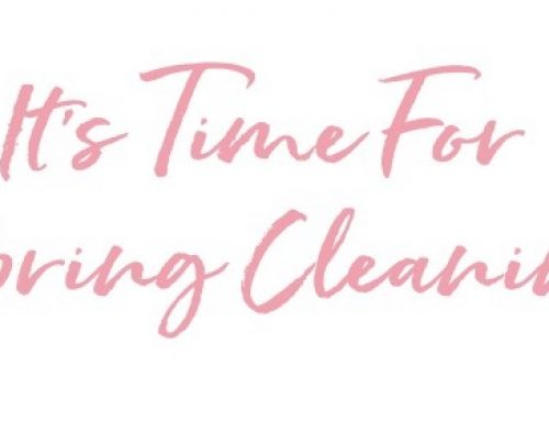 It's Time For Spring Cleaning